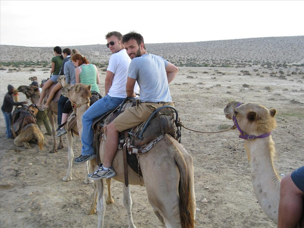 joel on a camel